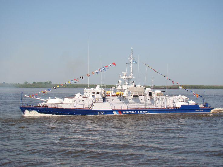 Russian coast guard ship PSKR-137 Khabarovsk. Amur river [3456 x 2592]