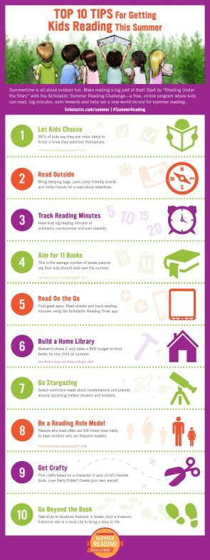 10 tips to get kids reading this summer- Scholastic's Summer Reading Program