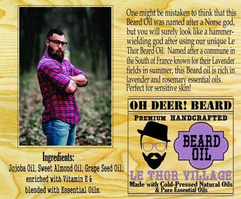 Beard Oil - Le Thor Village 30ml/1 fl. oz.