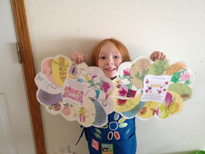 submitted by Staci Jansma During our first year of daisies we began working through 2 petals lessons and one chapter of the Welcome To The Flower Garden Jo