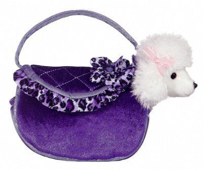 Aurora World Purple Ruffles Fancy Pals Pet Carrier Purse by Aurora World. $11.81. Wonderful gift. Comes with a pet. Exceptional quality. From the Manufacturer                This adorable Purse is cute and stylish, and comes with your own pet. Aurora is internationally known for style and quality.                                    Product Description                Aurora is the leading supplier of affordable, high quality gift products. Since its establishment ...