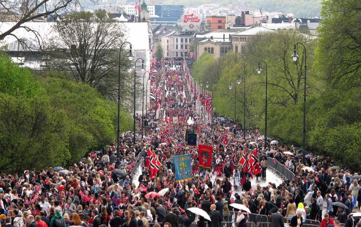 Citizens of Oslo celebrate Syttende Mai (May Seventeenth), Norway's national day commemorating the adoption of its Constitution.