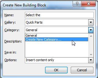 Building Blocks in Microsoft Word 2010