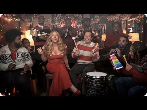 """Jimmy Fallon, Mariah Carey & The Roots: """"All I Want For Christmas Is You"""" (w/ Classroom Instruments) - YouTube"""