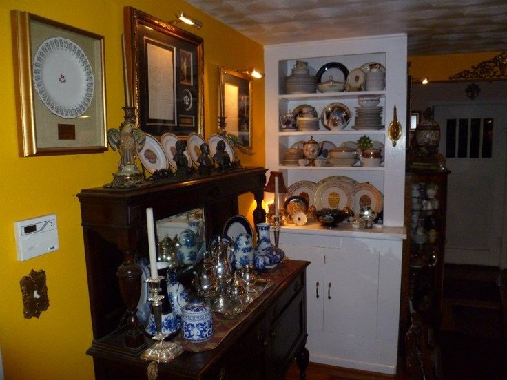Antique sideboard in the dining room.