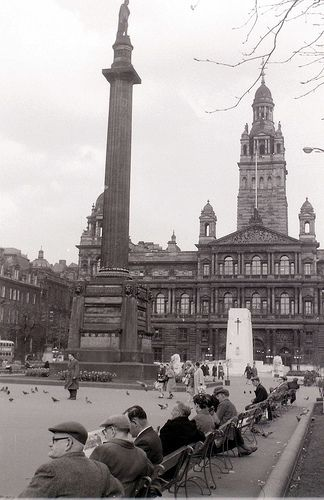 George Square, #Glasgow, 19 April 1960 by allhails, via Flickr my family moved here from London at about this time...