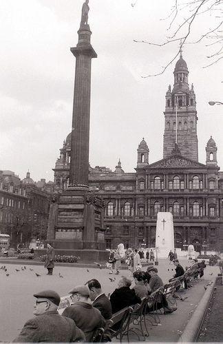George Square, Glasgow, 19 April 1960 by allhails, via Flickr