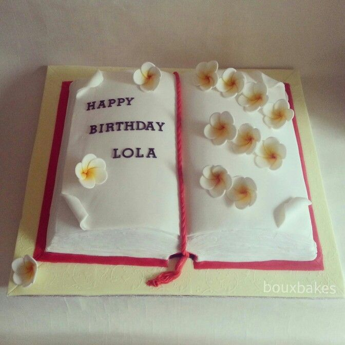Open book birthday cake!