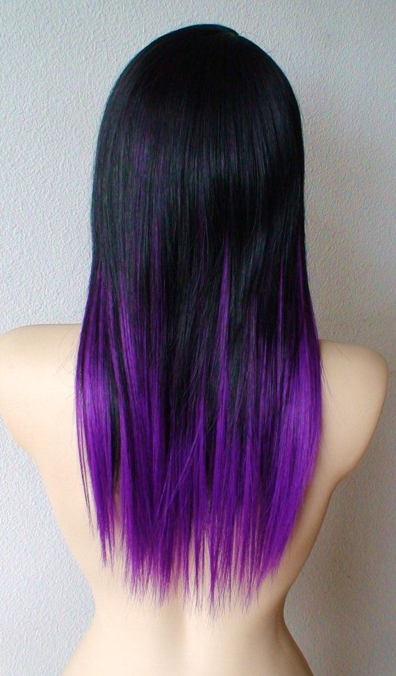 Black and purple ombre. Next time I dye my hair, this is probably happening! whatsapp sherry 0086 13403895446