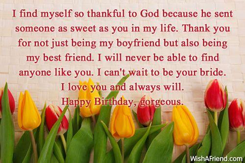I find myself so thankful to, Birthday Wishes For Boyfriend