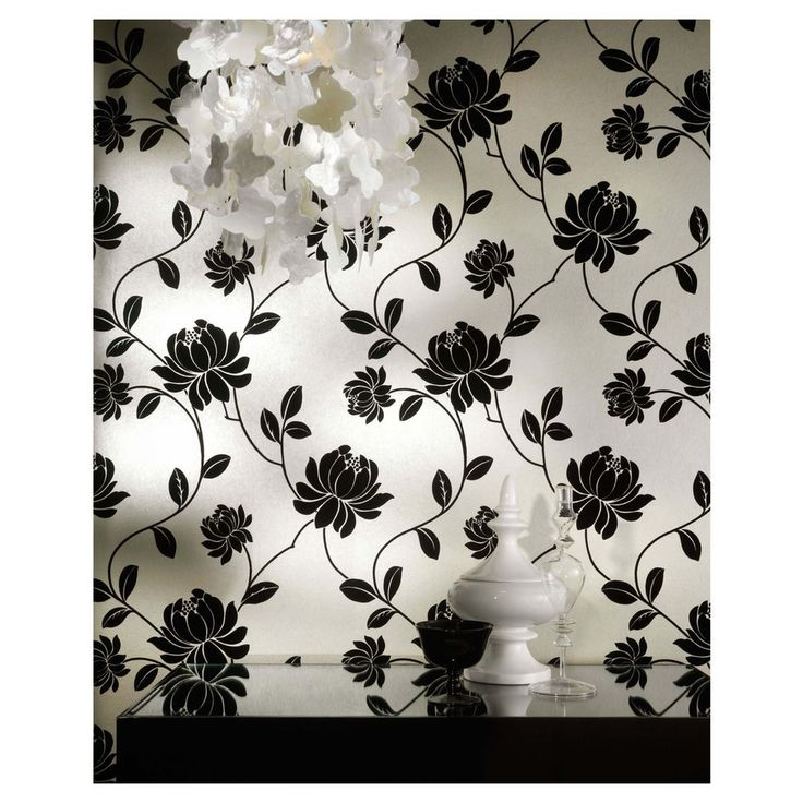 Vintage Flock wallpaper as seen on #HouseRules