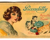Vintage  Piccadilly Needle Book Needle Case Collectible Paper Ephemera 1920s Craft Projects Collage