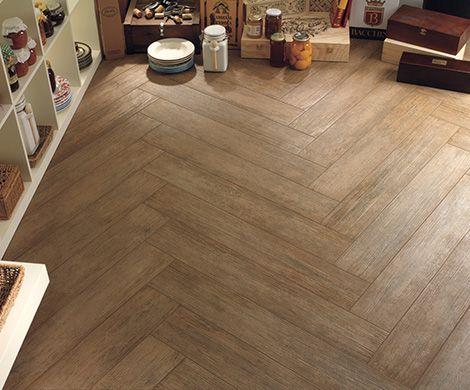 Ceramic wood tile floor. Basement