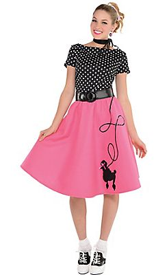 50s Costumes - Sock Hop Costumes, Poodle Skirts & Car Hop ...