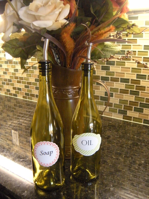 reuse your empty wine bottles for the kitchen!