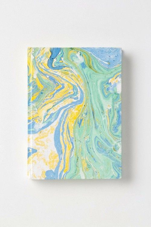 andwhatalicesaw:    (via PAINTERLY PRINT / Marbled Journal - Anthropologie.com)