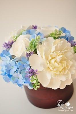 Clay flower centerpiece  - DK Designs