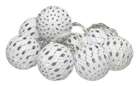 Energy+ Sisävalosarja 8osaa metallikoristepallo - Kynttilät, lyhdyt ja koristevalaistus - Tokmanni
