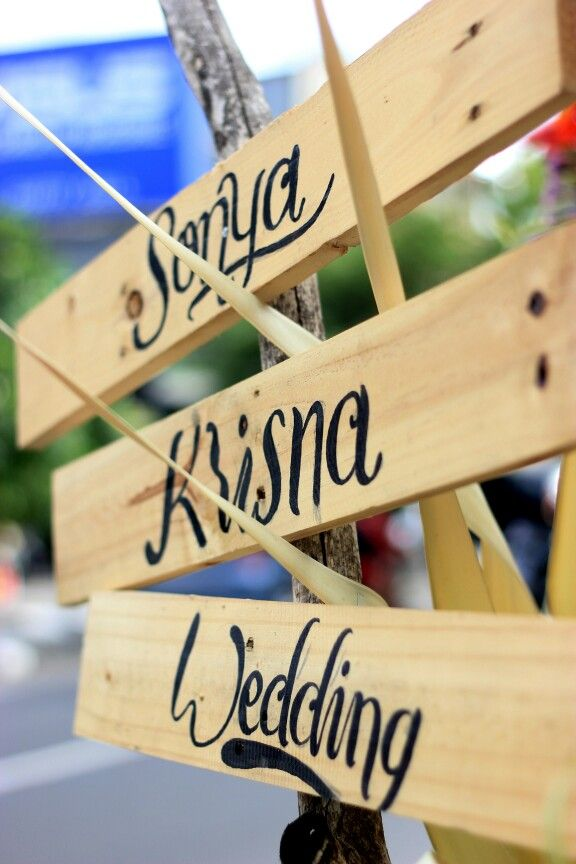 Our wedding sign board