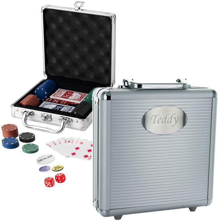 Coffret poker à personnaliser pour faire un cadeau original à un homme
