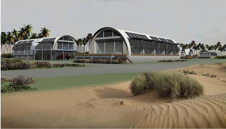 Convertible House concept image for eco village