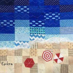 "Quilting swap: ""Wide Sea"" / Ανταλλαγή με θέμα ""Θάλασσα Πλατιά""   Mania for quilts"