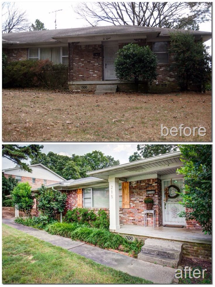 Before Amp After Front Porch Columns Cedar Shutters Live