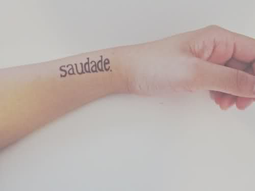 "Saudade was once described as ""the love that remains"" after someone is gone. Saudade is the recollection of feelings, experiences, places or events that once brought excitement, pleasure, well-being, which now triggers the senses and makes one live again. I dig this a lot."