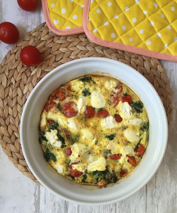 Low Carb Rezepte: Frittata mit Ricotta, Tomaten und Spinat