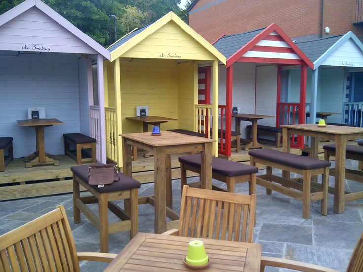 ES- Beach huts at the Boat House, Chester