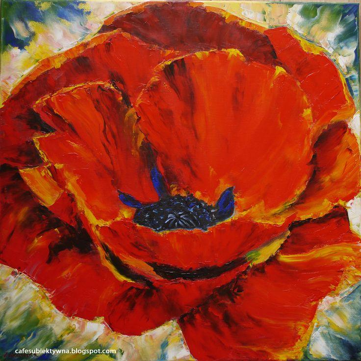 Poppy - oil painting