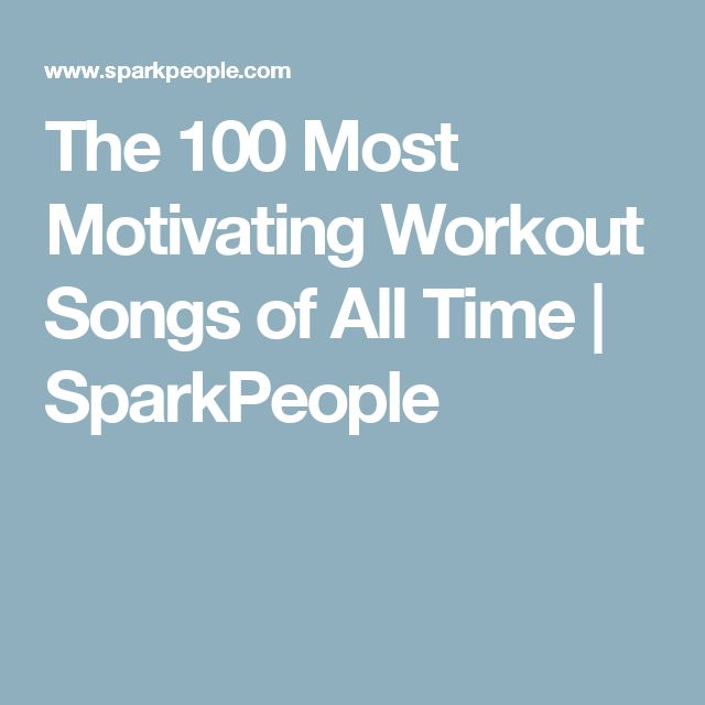 The 100 Most Motivating Workout Songs of All Time | SparkPeople