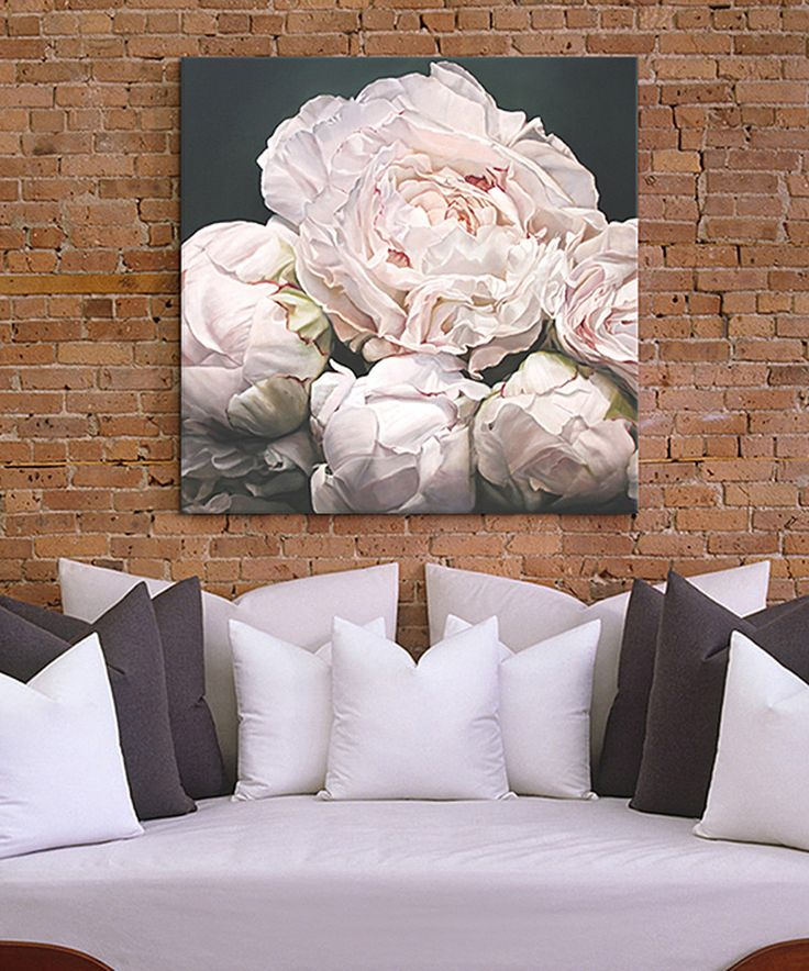 Thomas Darnell Peonies I Wrapped Canvas by iCanvas #zulily #zulilyfinds