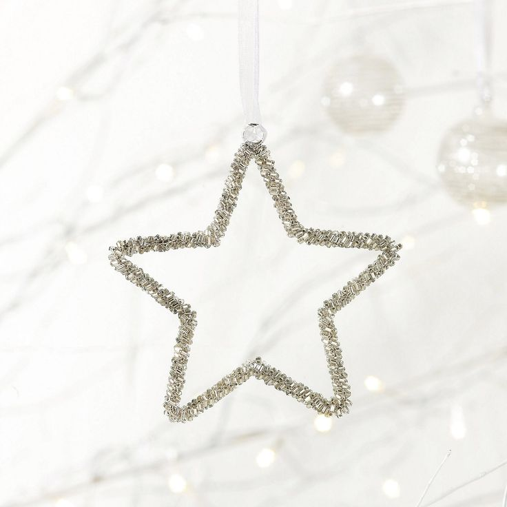 Beaded Star - Small | The White Company #whitechristmaswishlist