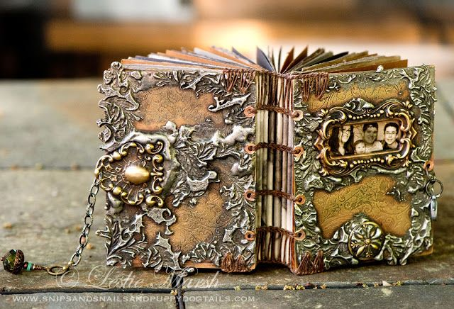 Snips and Snails and Puppy Dog Tails, makes beautiful altered books