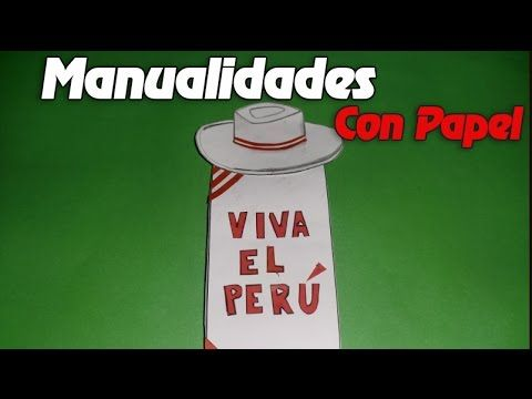Manualidades Con Papel - Manualidades Para Adornos por 28 de Julio- Felices Fiestas Patrias PERU - YouTube
