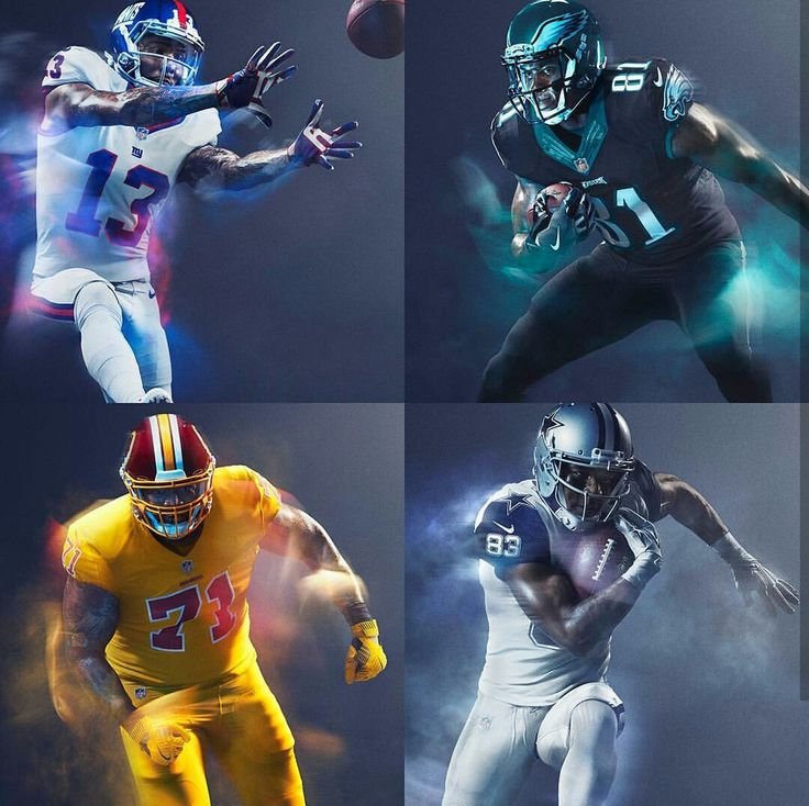 NFL: NFC East 2016 Color Rush Uniforms