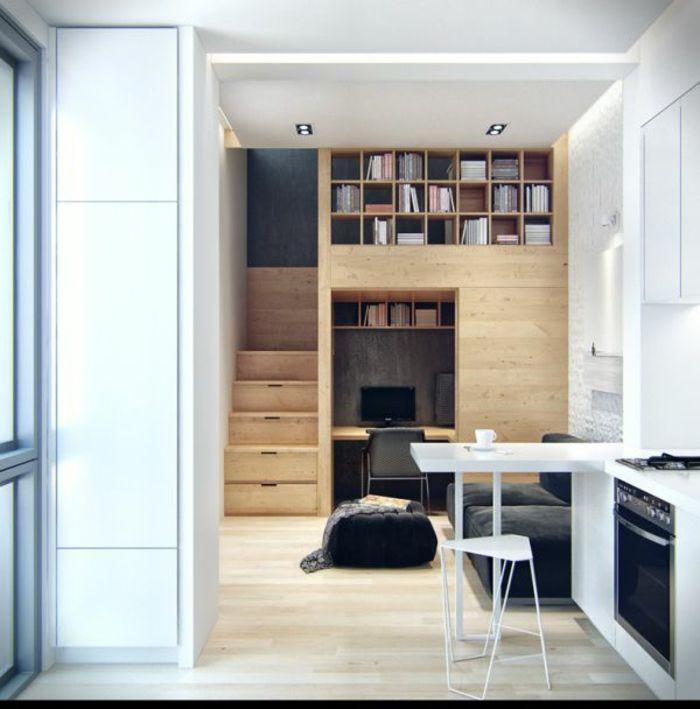 Treppenstufen Holz Raumspartreppe ~   Treppenstufen Holz auf Pinterest  Handlauf Holz, Treppenstufen und