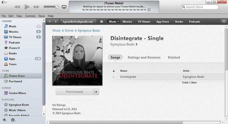 "Trevor's new single ""Disintegrate"" is now available on iTunes #progressivehouse #newmusic #EDM"