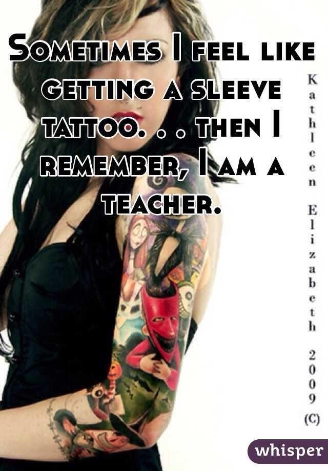 teacher with tattoo sleeve - Google Search