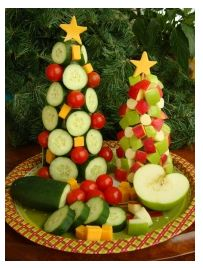 healthy tree: Styrofoam cone, toothpicks, favorite veggies, and a cheese cut out heart Creating a master one of these at my next home get-togther!!