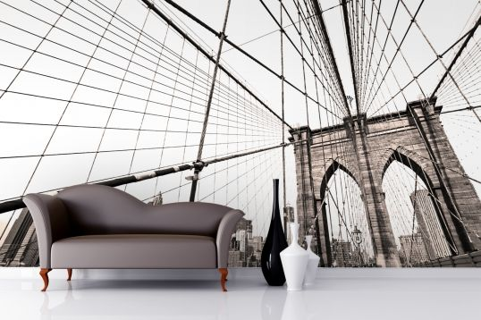 28 best images about wall on pinterest office decor art for Brooklyn bridge mural wallpaper