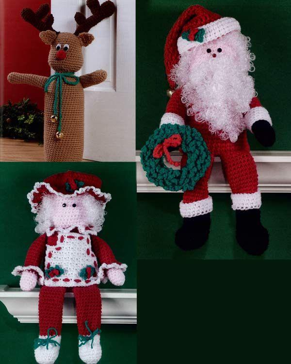 Christmas Doorstops and Shelf Sitters Crochet Pattern
