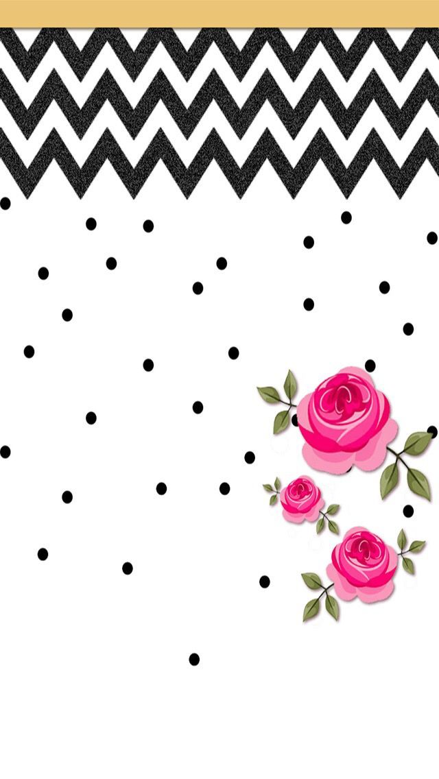 Imagem de chevron, floral, and wallpaper