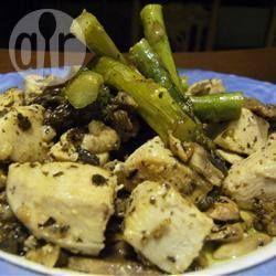 Roerbakgerecht met kip, asperges en champignon @ allrecipes.nl