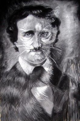 Poet Edgar Allen Poe wrote about cats as sinister in his poems but adored his cat Catarina who was a tortoiseshell.  She was the inspiration for his story The Black Cat.