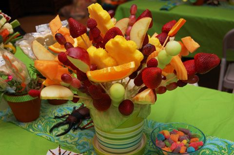 guests can snack on the fruit....better than throwing away your centerpiece, like usual, after spending money and time on it!