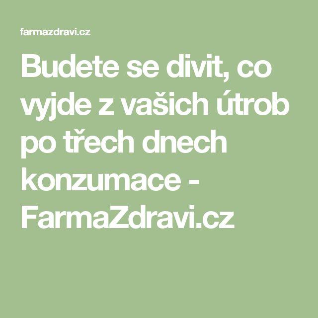 Budete se divit, co vyjde z vašich útrob po třech dnech konzumace - FarmaZdravi.cz