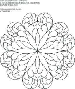 Feathered Heart -  Doily Motif -  by Sue Schmieden -  SS027