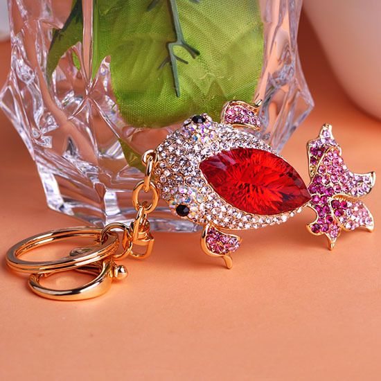 New Kawaii Red Carp Key Chain Colares Bijuterias For Women Men Jewelry Femininas Women Chaveiro Africa Indian Jewelry Wonderful #Affiliate